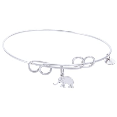 Rembrandt Carefree Bangle with Elephant Charm