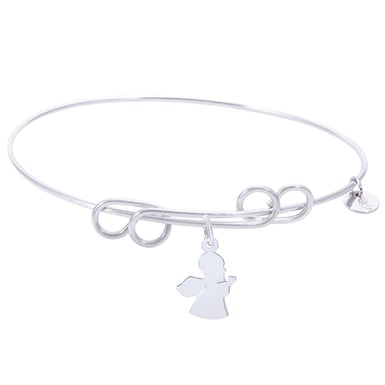 Rembrandt Carefree Bangle With Angel Charm
