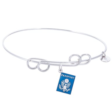Rembrandt Carefree Bangle With Passport Charm