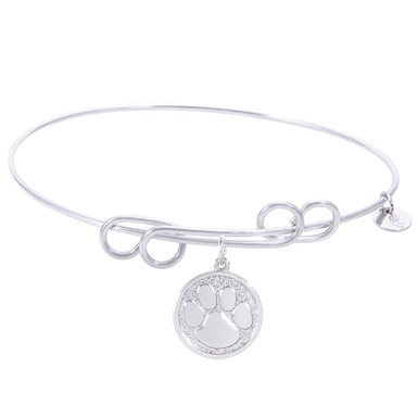 Rembrandt Carefree Bangle With Paw Print Charm