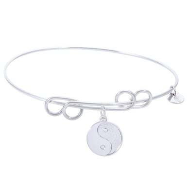 Rembrandt Carefree Bangle With Yin Yan Charm