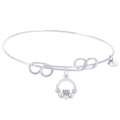 Rembrandt Carefree Bangle With Claddagh Charm