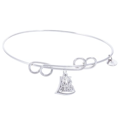 Rembrandt Carefree Bangle With Live Love Laugh Charm