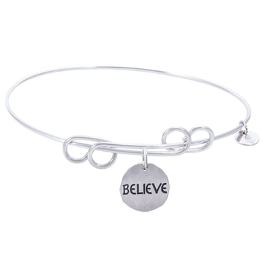 Rembrandt Carefree Bangle With Believe Charm