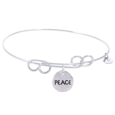 Rembrandt Carefree Bangle With Peace Charm