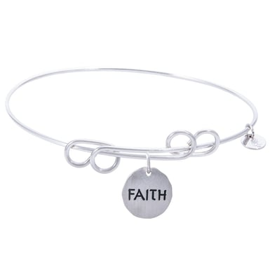 Rembrandt Carefree Bangle With Faith Charm