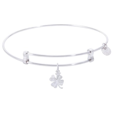 Rembrandt Confident Bangle With 4 Leaf Clover Charm