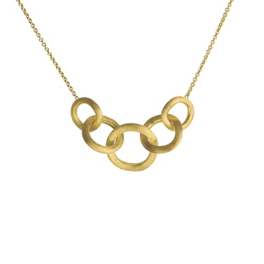 "Marco Bicego ""Jaipur Link"" Graduated Necklace, 18K Yellow Gold"