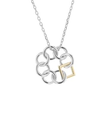 Embrace the Difference® Mini Pendant, Sterling Silver and 14K Yellow Gold