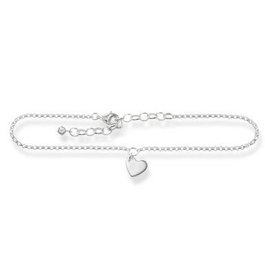 "Thomas Sabo ""Glam and Soul"" Sterling Silver Heart Ankle Chain"