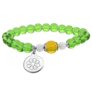 Embrace the Difference® Green Glass Bead Stretch Bracelet