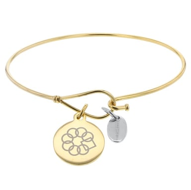 Embrace the Difference® Bangle Bracelet with Gold Plated Charm