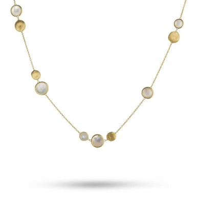 "Marco Bicego ""Jaipur"" Mixed Bead Mother of Pearl and Gold Necklace, 18K Yellow Gold"