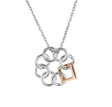 Embrace the Difference® Mini Pendant, Sterling Silver and 14K Rose Gold