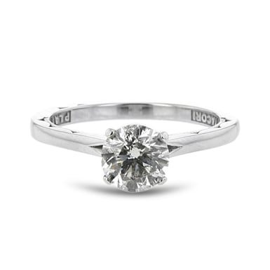 *ESTATE TACORI Diamond Solitaire Engagement Ring, Round, Platinum, 1.05CT