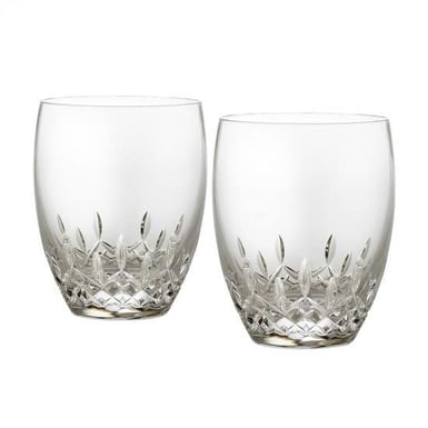 Waterford Lismore Essence Pair of Double Old Fashioned Glasses