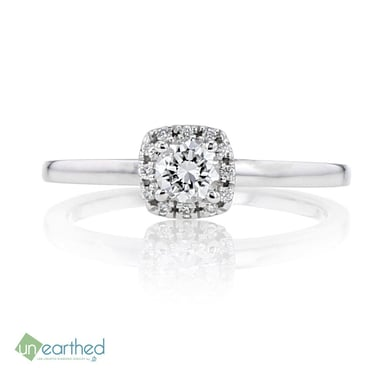 UNEARTHED LAB GROWN DIAMOND ENGAGEMENT RING 1/3 CT, 10K WG