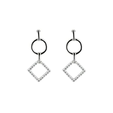 Embrace the Difference®, Sterling Silver Earrings, Linear Collection