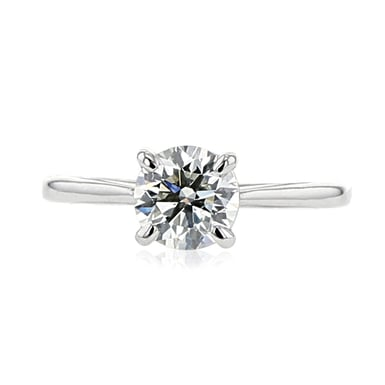 1.25 Carat Round-Cut Forevermark Diamond Solitaire Engagement Ring in Platinum