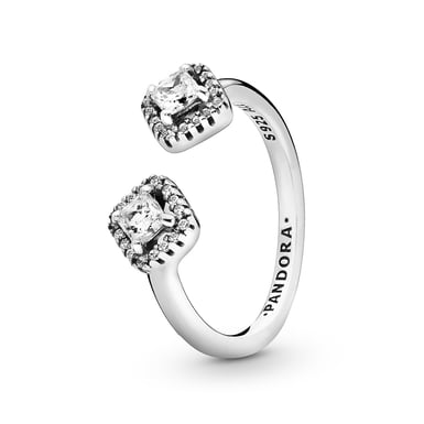 Pandora Square Sparkle Open Ring in Sterling Silver with Cubic Zirconia