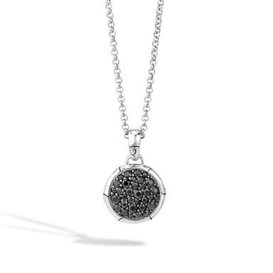 John Hardy Pendant Necklace with Black Sapphire