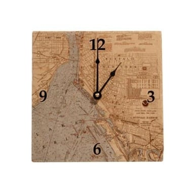 Buffalo Map Tile Clock