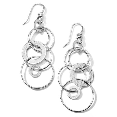 Ippolita Classico Jet Set Hammered Earrings, Sterling Silver