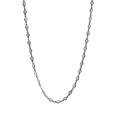 FREIDA ROTHMAN Signature Radiance Wrap Necklace, Sterling Silver, CZ, 36 INCH