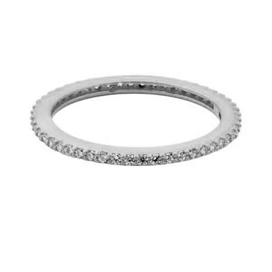 FREIDA ROTHMAN All Pavé Stacking Ring, Sterling Silver, CZ