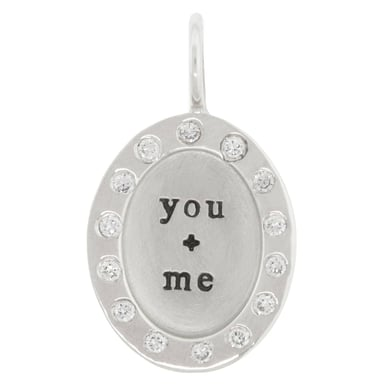 "Heather B. Moore ""You + Me"" Charm"