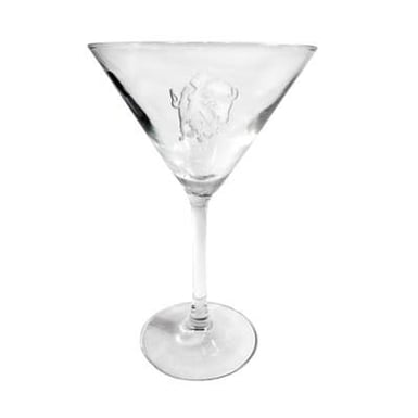 Charging Buffalo Martini Glass