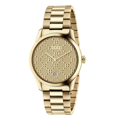 Gucci G-Timeless Gold-Tone Diamante Watch