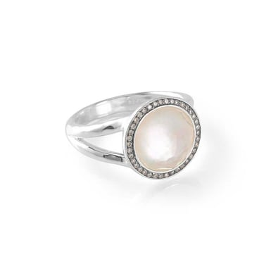 Ippolita Lollipop® Mini Ring, Mother of Pearl and Diamonds, Sterling Silver, .15TDW