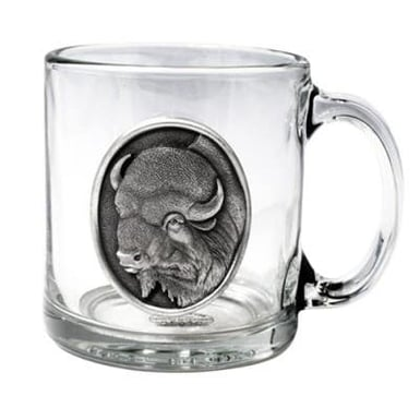 Heritage Pewter Buffalo Coffee Mug