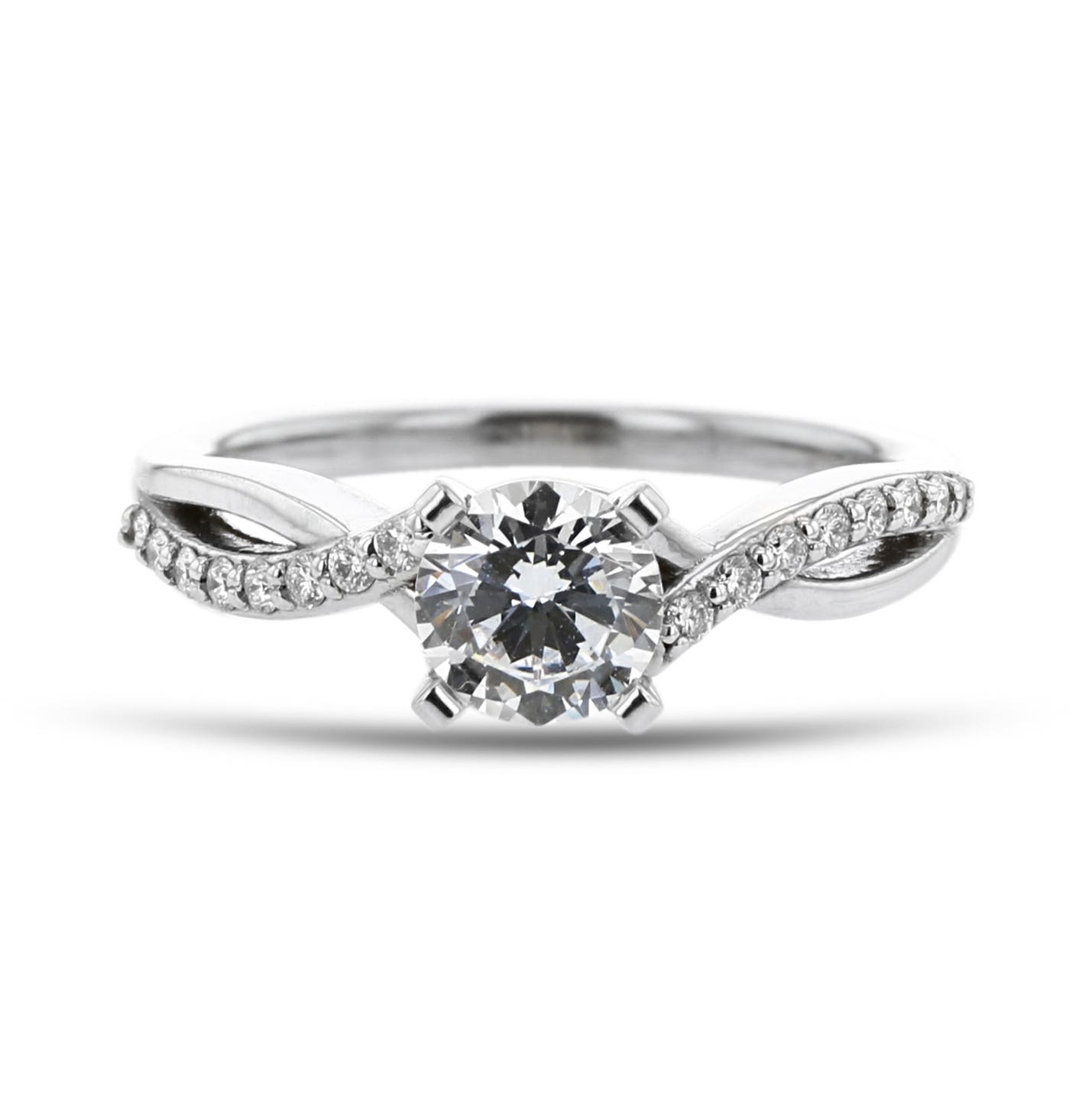 0ec0f185717 Diamond Accent Engagement Ring Setting