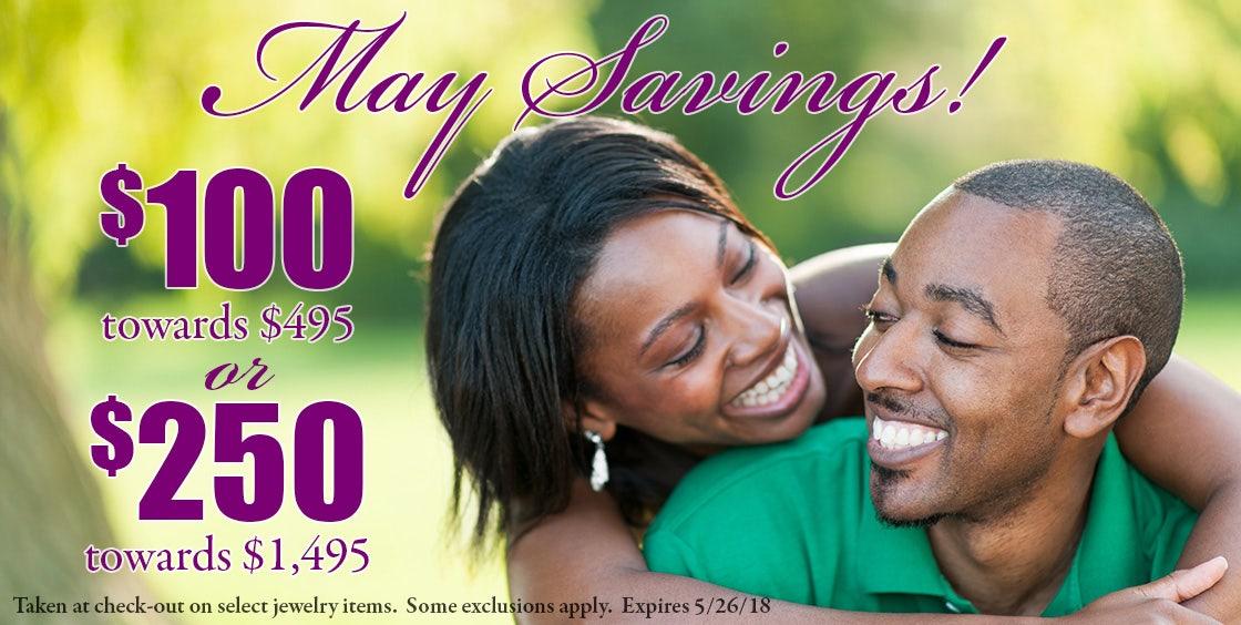 May Savings Banner